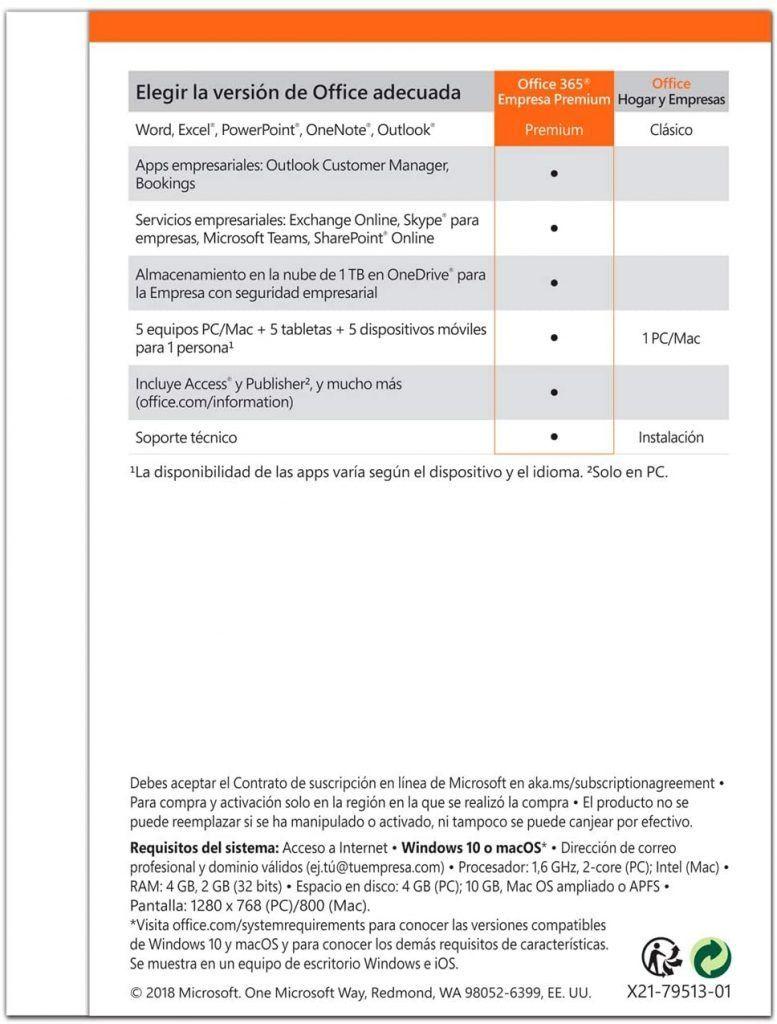 Aplicaciones incluidas en office 365 empresa premium